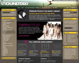 Soundtaxi Screenshot: Musikproduktion für Imagefilme und Produktvideos